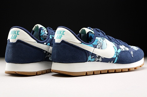 Nike WMNS Air Pegasus 83 Print Midnight Navy Sail Tide Pool Blue Back view
