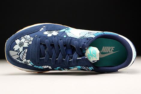 Nike WMNS Air Pegasus 83 Print Dunkelblau Creme Hellblau Weiss Oberschuh