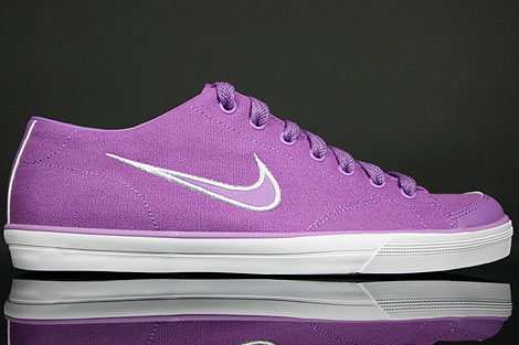 Nike WMNS Capri CNVS Violet Pop Orange Weiss