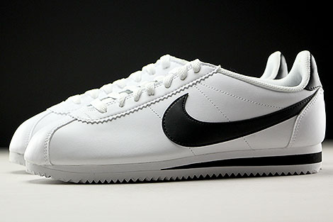 Nike WMNS Classic Cortez Leather White Black Profile