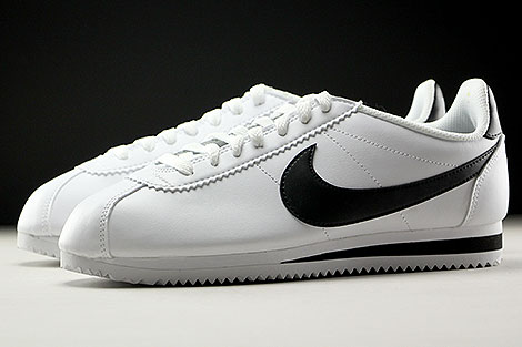 Nike WMNS Classic Cortez Leather White Black Sidedetails
