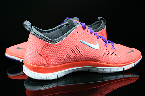 Nike WMNS Free 5.0 TR Fit 4 Bright Mango Wolf Grey Cool Grey Anthracite Inside