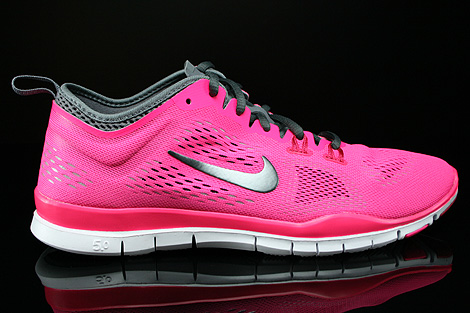 ... Nike WMNS Free 5.0 TR Fit 4 Hyper Pink Dark Grey Cool Grey Wolf Grey  Right ...