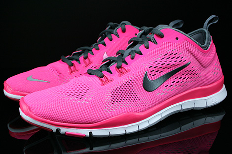 Nike WMNS Free 5.0 TR Fit 4 Pink Dunkelgrau Hellgrau Weiss Seitenansicht