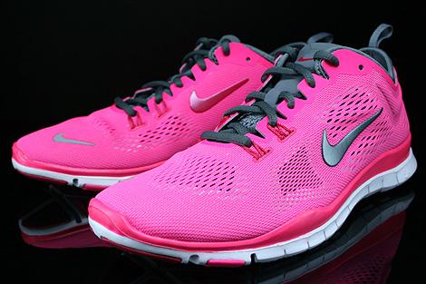 Nike WMNS Free 5.0 TR Fit 4 Pink Dunkelgrau Hellgrau Weiss Seitendetail