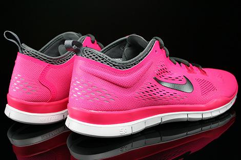 Nike WMNS Free 5.0 TR Fit 4 Pink Dunkelgrau Hellgrau Weiss Rueckansicht