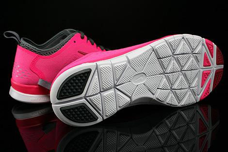 Nike WMNS Free 5.0 TR Fit 4 Pink Dunkelgrau Hellgrau Weiss Laufsohle