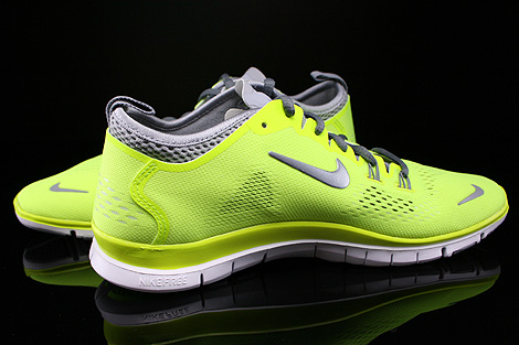Nike WMNS Free 5.0 TR Fit 4 Volt Cool Grey Wolf Grey White Inside