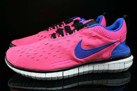 Nike WMNS Free OG 14 Pink Blau Lila Schwarz Weiss Seitenansicht