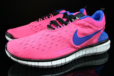 Nike WMNS Free OG 14 Pink Blau Lila Schwarz Weiss Seitendetail