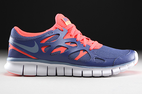 Nike WMNS Free Run 2 EXT Blue Legend Cool Blue Hot Lava White Right