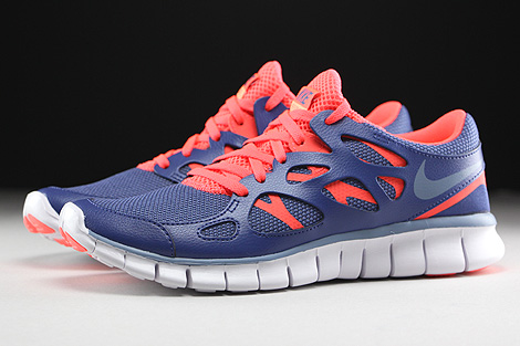Nike WMNS Free Run 2 EXT Blue Legend Cool Blue Hot Lava White Profile