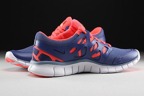 Nike WMNS Free Run 2 EXT Blue Legend Cool Blue Hot Lava White Inside