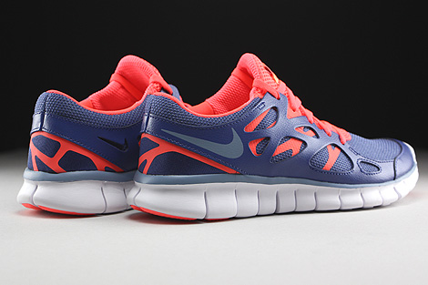Nike WMNS Free Run 2 EXT Blue Legend Cool Blue Hot Lava White Back view