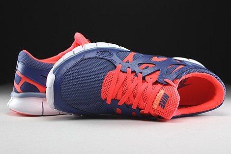 Nike WMNS Free Run 2 EXT Blue Legend Cool Blue Hot Lava White Over view