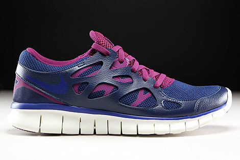 Nike WMNS Free Run 2 EXT Midnight Navy Deep Royal Blue Mulberry Purple Right