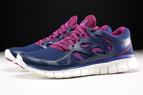 Nike WMNS Free Run 2 EXT Midnight Navy Deep Royal Blue Mulberry Purple Profile