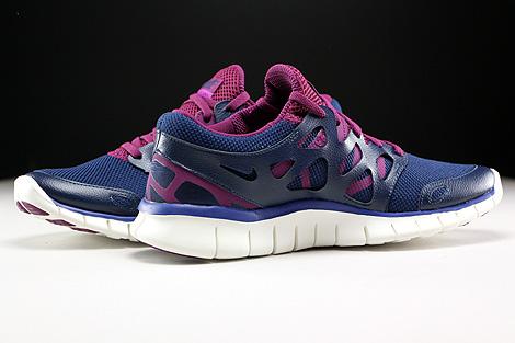 Nike WMNS Free Run 2 EXT Dunkelblau Lila Violett Creme Innenseite