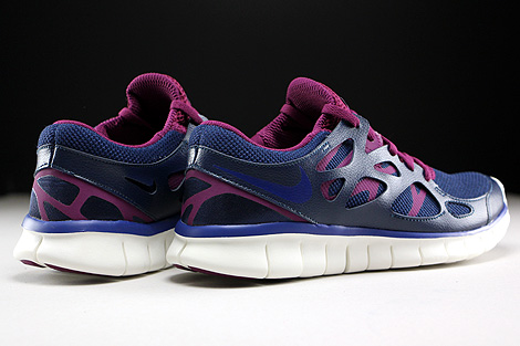 Nike WMNS Free Run 2 EXT Midnight Navy Deep Royal Blue Mulberry Purple Back view