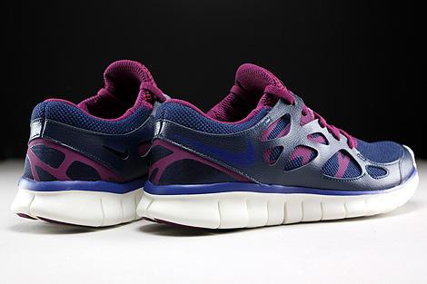 Nike WMNS Free Run 2 EXT Dunkelblau Lila Violett Creme Rueckansicht