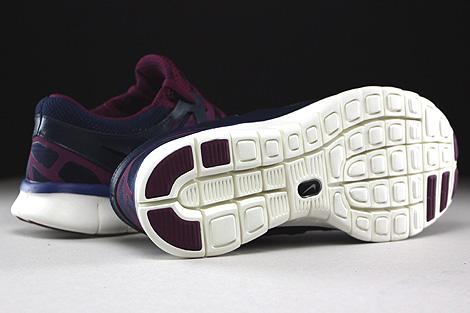 Nike WMNS Free Run 2 EXT Dunkelblau Lila Violett Creme Laufsohle