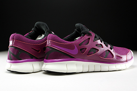d2b41d91a3ef ... Nike WMNS Free Run 2 EXT Mulberry Purple Dusk Black Dark Grey Back view  ...
