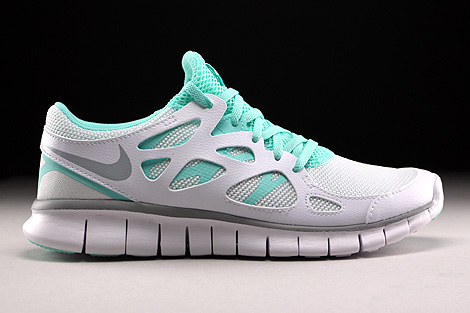 Nike WMNS Free Run 2 EXT White Wolf Grey Artisan Teal White Right