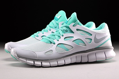 Nike WMNS Free Run 2 EXT White Wolf Grey Artisan Teal White Profile