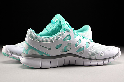 Nike WMNS Free Run 2 EXT White Wolf Grey Artisan Teal White Inside