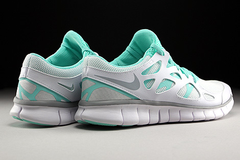 Nike WMNS Free Run 2 EXT White Wolf Grey Artisan Teal White Back view