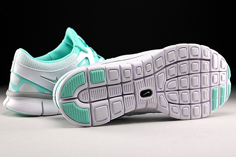 Nike WMNS Free Run 2 EXT White Wolf Grey Artisan Teal White Outsole