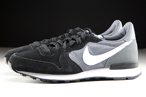Nike WMNS Internationalist Black White Dark Grey Black Profile