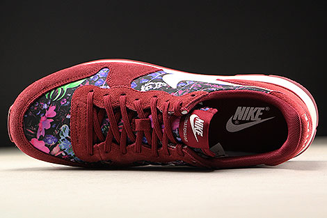 Nike WMNS Internationalist Premium Dunkelrot Floral Oberschuh