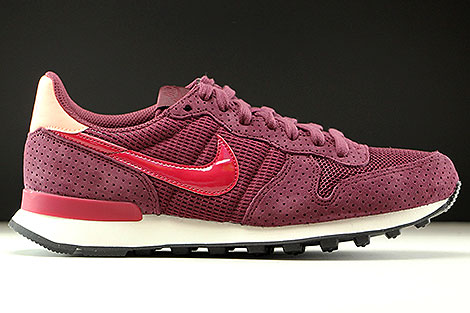 Nike WMNS Internationalist SE Dunkelrot Rot Rose Weiss
