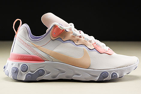 Nike WMNS React Element 55 Pale Pink Washed Coral