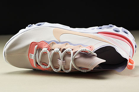 Nike WMNS React Element 55 Pale Pink Washed Coral Over view