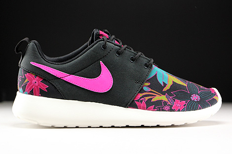 Nike WMNS Roshe One Print Black Pink Foil Sail Right