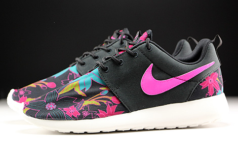 nike roshe one print black sail