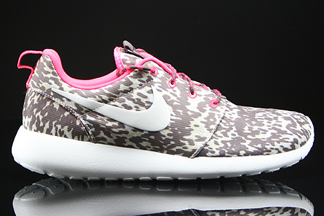 Nike WMNS Rosherun Print Light Orewood Brown Sail Hyper Punch Orewood Right