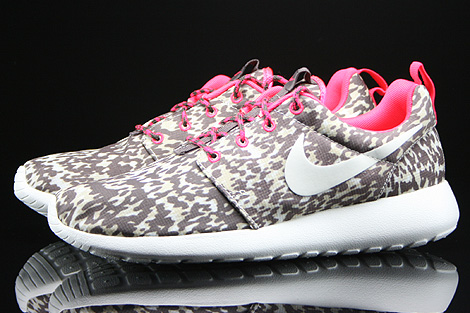 Nike WMNS Rosherun Print Light Orewood Brown Sail Hyper Punch Orewood Profile