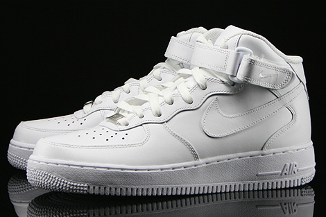Nike WMNS Air Force 1 Mid Weiss Seitendetail