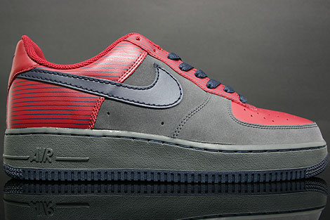 Nike Air Force 1 Low Team Red Anthracite