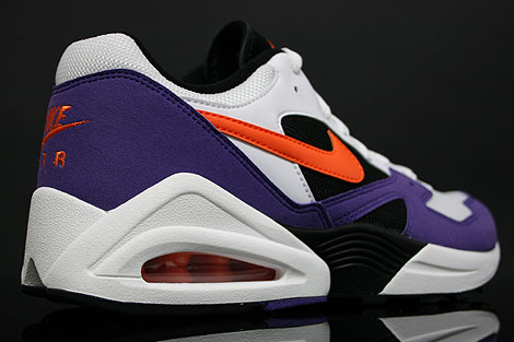 Nike Air Tailwind 92 White Orange Purple Back view