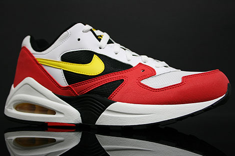 Nike Air Tailwind 92 White Yellow Crimson Profile