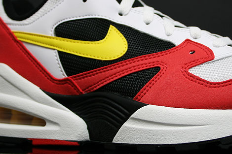 Nike Air Tailwind 92 White Yellow Crimson Sidedetails