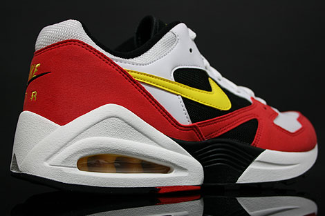 Nike Air Tailwind 92 White Yellow Crimson Back view