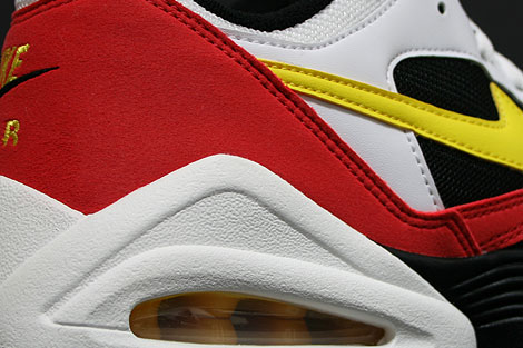 Nike Air Tailwind 92 White Yellow Crimson Over view