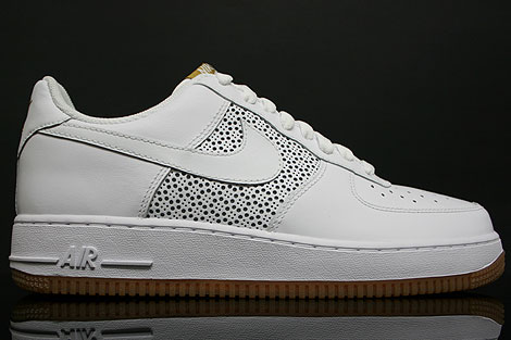 Nike Air Force 1 Low Weiss Gummi