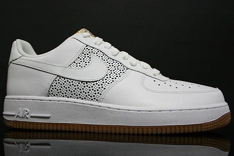 Nike Air Force 1 Low Weiss Gummi Seitenansicht