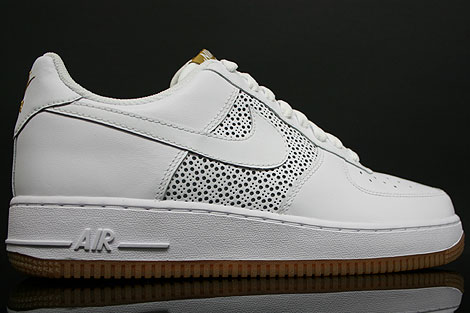 Nike Air Force 1 Low Weiss Gummi Innenseite